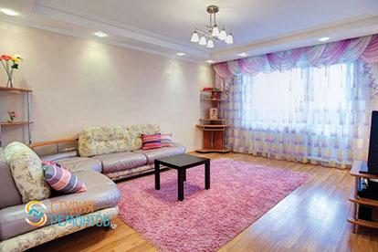 Капитальный ремонт гостиной 22 кв.м.