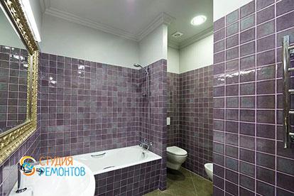 Ремонт ванной под ключ 7 кв.м.