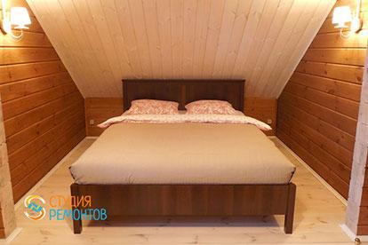 Капитальный ремонт спальни в коттедже из бруса 40,5 квадратов