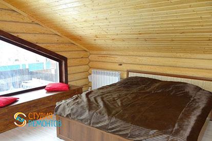 Капремонт спальни в деревянном коттедже 45,5 м2