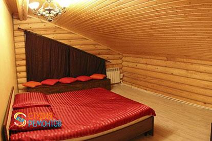 Капремонт второй спальни в деревянном коттедже 45,5 м2
