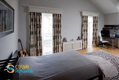 Ремонт комнаты в двухкомнатной квартире 80,5 кв.м. в классическом стиле