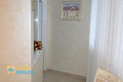 Ремонт кухни и балкона в классическом стиле в 1-к квартире 36 кв.м. фото-1