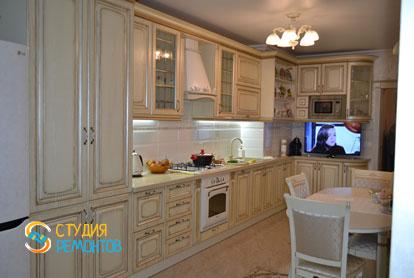 Ремонт кухни и балкона в классическом стиле в 1-к квартире 36 кв.м. фото-2