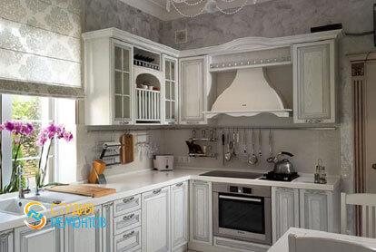 Ремонт кухни в двухкомнатной квартире 80,5 кв.м. в классическом стиле