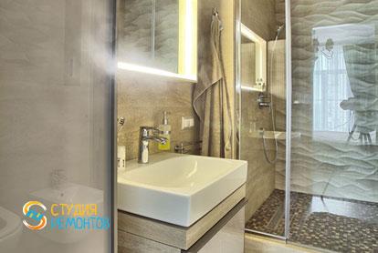 Ремонт санузла в 1-к квартире 50 кв.м. в классическом стиле