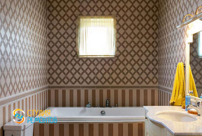 Ремонт санузла в двухкомнатной квартире 80,5 кв.м. в классическом стиле