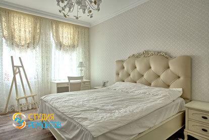 Ремонт спальни в 1-к квартире 50 кв.м. в классическом стиле