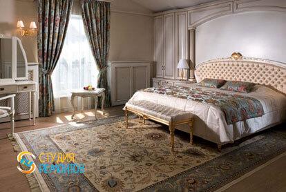 Ремонт спальни в двухкомнатной квартире 80,5 кв.м. в классическом стиле