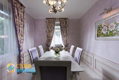 Ремонт столовой в двухкомнатной квартире 80,5 кв.м. в классическом стиле
