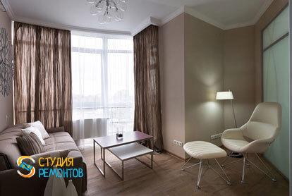 Ремонт комнаты в трехкомнатной квартире 56,5 кв.м. в современном стиле фото-1