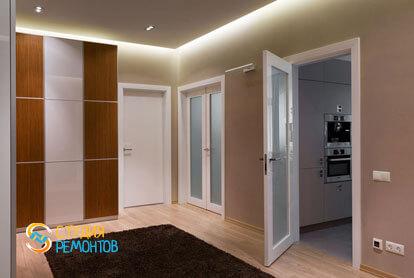 Ремонт коридора в двухкомнатной квартире 59,5 кв.м. в современном стиле