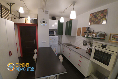 Ремонт кухни в однокомнатной квартире 37,5 кв.м. в современном стиле
