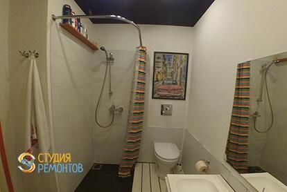 Ремонт санузла в однокомнатной квартире 37,5 кв.м. в современном стиле