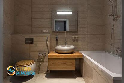 Ремонт санузла в трехкомнатной квартире 56,5 кв.м. в современном стиле