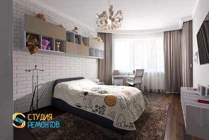 Ремонт спальни в двухкомнатной квартире 59,5 кв.м. в современном стиле фото-1