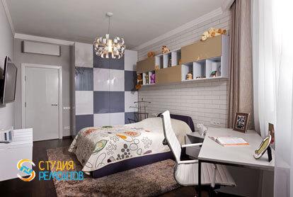 Ремонт спальни в двухкомнатной квартире 59,5 кв.м. в современном стиле фото-2