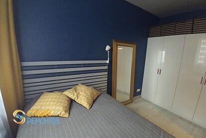 Ремонт спальни в однокомнатной квартире 37,5 кв.м. в современном стиле