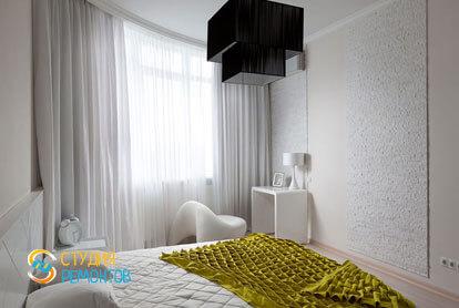 Ремонт спальни в трехкомнатной квартире 56,5 кв.м. в современном стиле