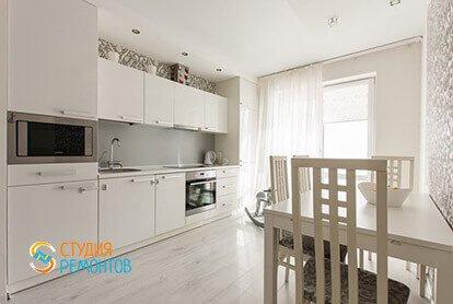 Ремонт двушки 54 м2 в стиле минимализм. Кухня