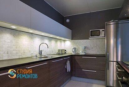 Ремонт кухни в стиле минимализм в двухкомнатной квартире 49 кв.м.