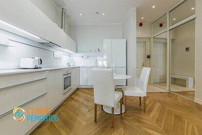 Ремонт кухни в стиле минимализм в квартире 46 кв.м.