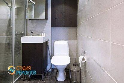 Ремонт санузла в стиле минимализм в двухкомнатной квартире 49 кв.м.