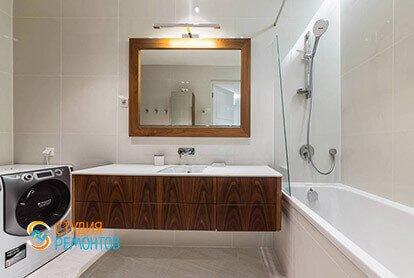 Ремонт санузла в стиле минимализм в квартире 46 кв.м.
