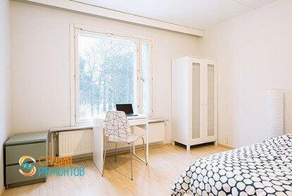 Ремонт спальни в стиле минимализм в двухкомнатной квартире 49 кв.м.