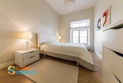 Ремонт спальни в стиле минимализм в квартире 46 кв.м.