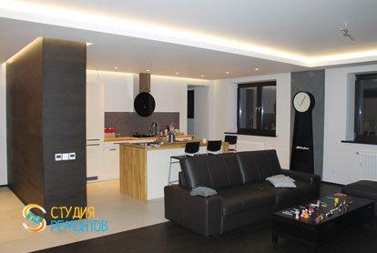Евроремонт квартиры 100 кв.м. Кухня-зал