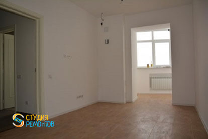 Капитальный ремонт квартиры 100 кв.м. Проходная комната