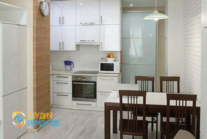 Евроремонт комнаты с кухней в маленькой квартире 18 м2 фото-2
