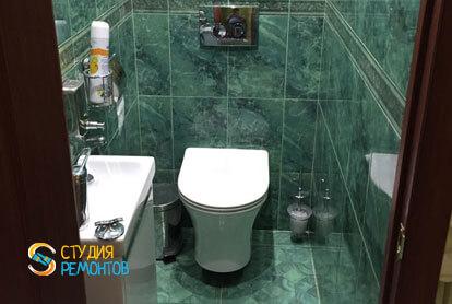 Капремонт туалета в однокомнатной квартире 18 кв.м.