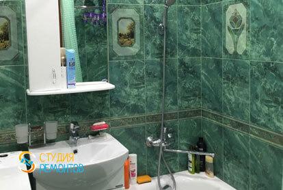 Капремонт ванной в однокомнатной квартире 18 кв.м.