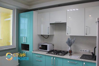 Капремонт квартиры 25 кв.м. кухня фото-2