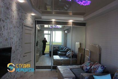 Капремонт квартиры 25 кв.м. спальня фото-2