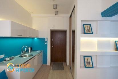 Евроремонт комнаты-студии в квартире 29 м2 фото-1