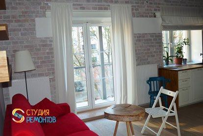 Ремонт жилой комнаты в квартире 29 кв.м. фото-2