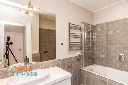 Евроремонт ванной в квартире 30 кв.м. фото 1