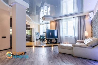 Евроремонт жилой комнаты в квартире 30 кв.м. фото 1