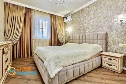 Капитальный ремонт спальни в 1 комнатной квартире 30 кв.м.