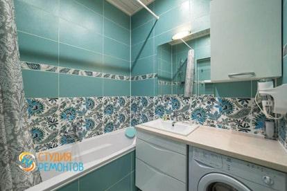 Косметический ремонт ванной в квартире 30 кв.м.