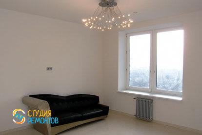 Евроремонт квартиры 32 кв.м. гостиная комната фото-2