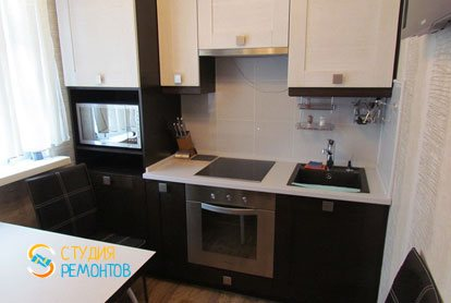 Капремонт квартиры 32 кв.м. кухня