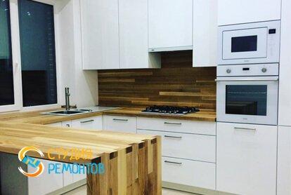 Евроремонт кухни в квартире 33 кв.м. фото 1