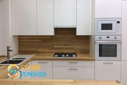 Евроремонт кухни в квартире 33 кв.м. фото 2