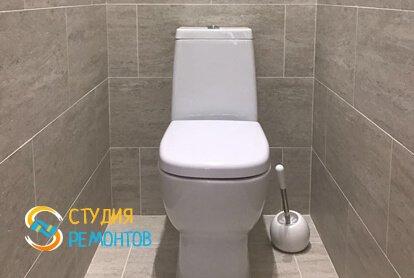 Евроремонт туалетной комнаты в квартире 33 кв.м.