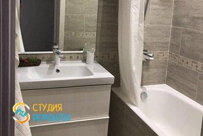 Евроремонт ванной комнаты в квартире 33 кв.м.