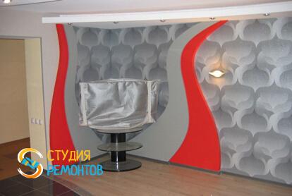 Капитальный ремонт большой комнаты в квартире 33 кв.м. фото 1